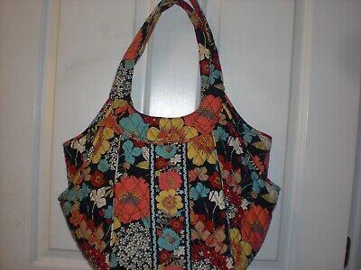 Large Multi Colored (Vera Bradley Large Flower Multi Colored Handbag WOW )