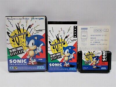 Mega-Drive Genesis -- SONIC THE HEDGEHOG -- Japan. Platformer Game. SEGA. 11527