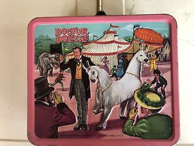 VINTAGE 1967 DR. DOOLITTLE METAL LUNCHBOX BY ALADDIN INDUSTRIES. NO THERMOS