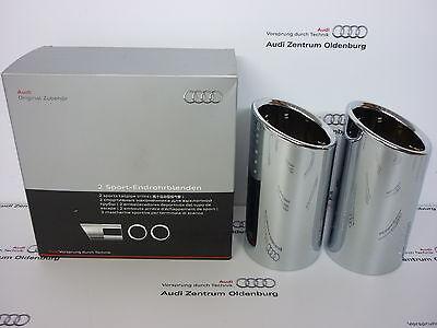 Original Audi Endrohrblenden /Auspuffblenden Audi A1 /Audi A3,doppelt, -NEU/OVP-