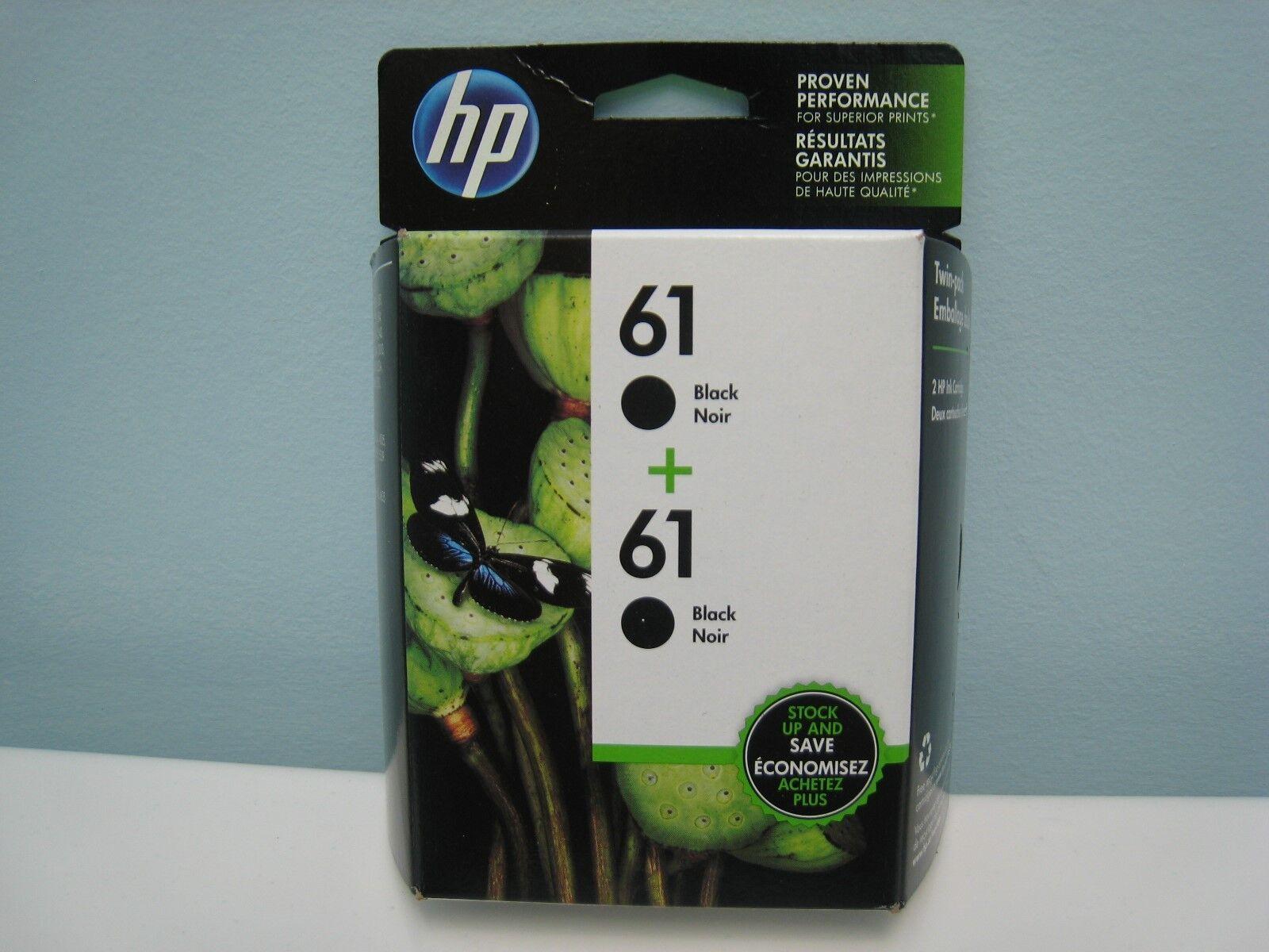 HP 61 / 61 (CZ073FN) GENUINE BLACK TWIN PACK, NEW IN BOX