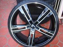 """Set Of 20"""" Lenso Black Rims 5 Stud x 112 Pattern Only ! Green Valley Liverpool Area Preview"""