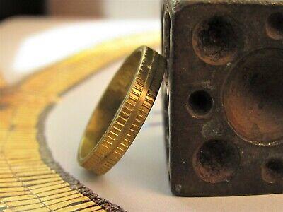 Boda Anillo 14k Oro Amarillo Para Hombres. Único Textura Alianza