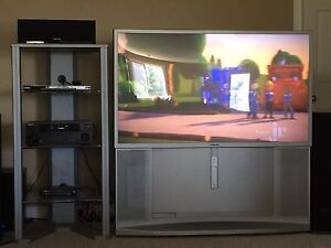 "62"" HD Sony TV with rear projection"
