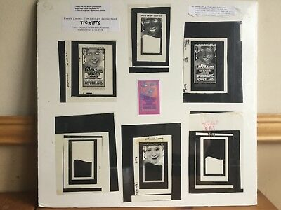 FRANK ZAPPA & TIM BUCKLEY (6) ACTUAL PRODUCTION NEGATIVES & PEPPERLAND TIX 1970