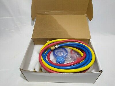 R12 R22 R134a R502 Manifold Gauge Set Hvac Ac Refrigeration Charging Hoses Kit