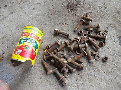 Ford 9n Tractor Rear Hat Rim To Hub Carriage Style Head Bolts And Nuts