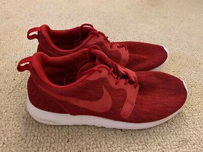 Nike Roshe One Knit Jacquard men's running trainers in red - size 6.5