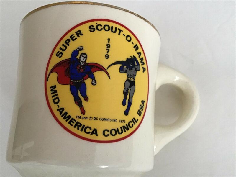 Vintage Superman Batman DC Scout-O-Rama BSA Mug