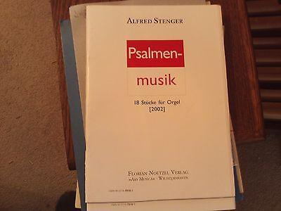 Alfred Stenger: Psalmen-Musik, 2002, 18 Pieces, organ (Florian Noetzel)