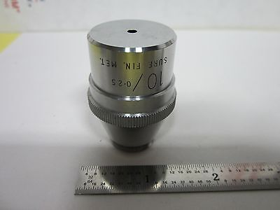 Objective Vickers England Metallograph 10x Optics Microscope As Is Bing5-10