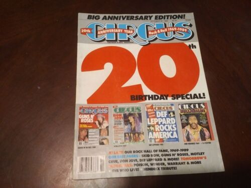 Circus Magazine Oct 1989!! Metallica,Motley Crue,Skid Row, Motley Crue,Ozzy