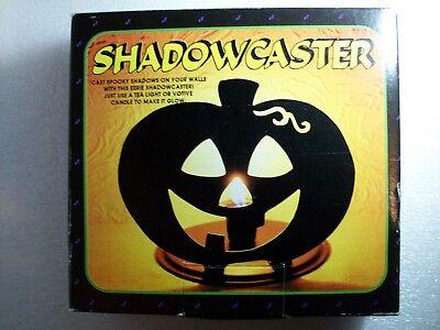 Vintage Halloween Pumpkin Shadow Caster Jack-O-Lantern 1994 Candle - Halloween Shadow Lantern