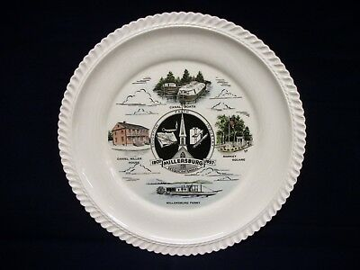 """Vintage Millersburg Ferry Canal Boats 1957 Sesquicentennial Plate 10 1/4"""""""