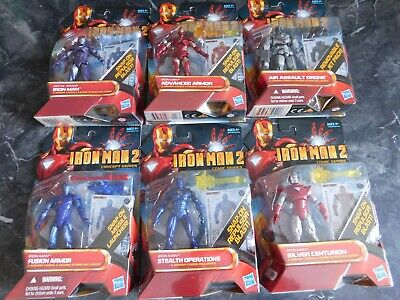 Marvel Universe Iron Man 2 Series Lot Of 6 Including Air Assault Drone!