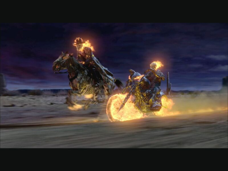 Ghost Rider Nicolas Cage Johnny Blaze Horse  8x10 Photo Print