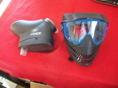 JT USA Black And blue Raptor Goggles and Mask with VL force hopper ()
