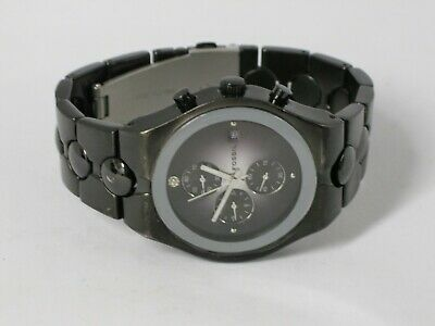 Vintage Men's FOSSIL FS-4157 Arkitekt Chronograph Stainless Steel Wristwatch