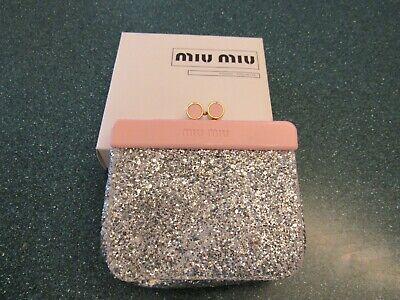Miu Miu Parfums Mini Pouch-pochette pink and silver glitter