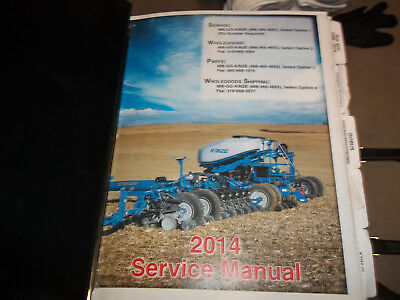 Kinze Planters Operators And Parts Manuals 2014