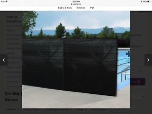 Privacy screen fence netting