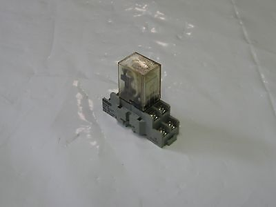 Omron 8 Pin  Cube Relay LY2-CR, 240VAC, W/ Base Unit, Used, Warranty