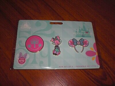 Disney Minnie Mouse The Main Attraction It's a Small World April Mickey Pin Set