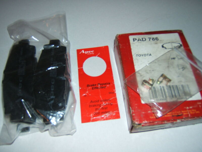 APEC PAD786 REAR BRAKE PADS LS400 CELSIOR LEXUS TOYOTA UCF10 UCF11 1UZ-FE 89~ 94