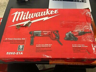5262-21a 2 Tool Combo Kit Rotary Hammer And Angle Grinder Milwaukee Great Deal