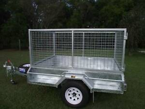 Heavy Duty 8 x 5 1.4 ton Braked with Cage Morisset Lake Macquarie Area Preview