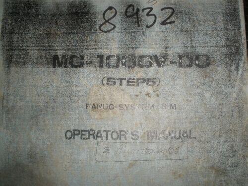 Matsuura MC-1000V-DC With Fanuc 11M Control Operators Manual