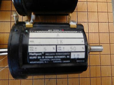 Beckman Helipot Precision Potentiometers 10k Ohms 1k Ohms 50 K 100 Ohms