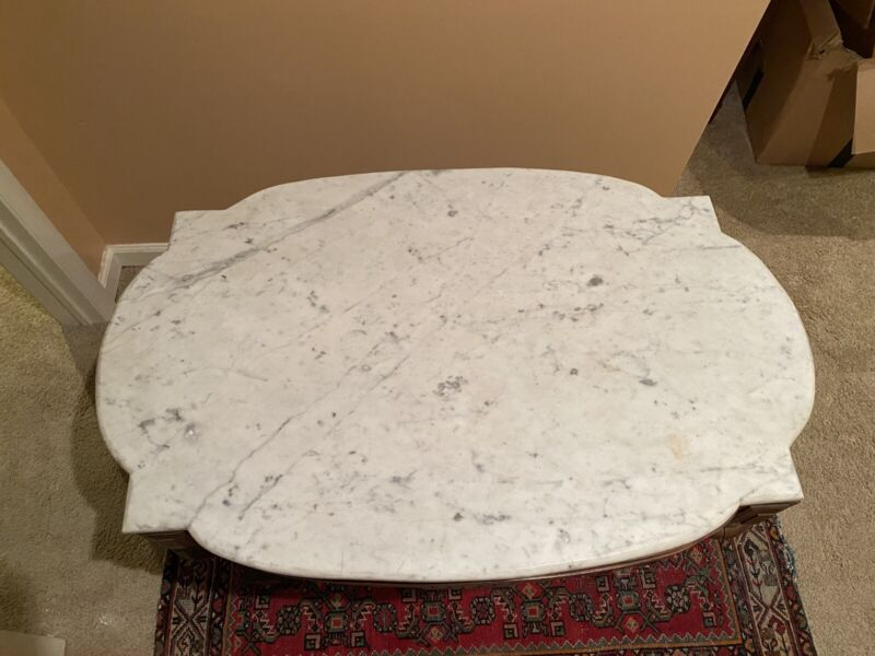 Beautiful Carved Walnut Victorian  Antique Marble  Turtle Top Table