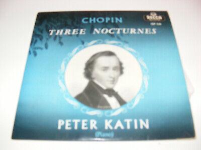"Chopin - Peter Katin - Three Nocturnes 7"" EP 1958 Decca CEP 530 VG/VG+"