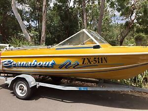 Pride 15 ft 90 hp Johnson ocean pro 98' Annandale Leichhardt Area Preview