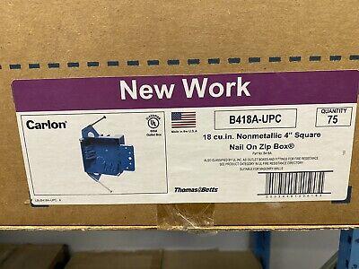 Carlon B418a-upc 18 Cu In Nonmetallic 4 Square Nail On Zip Box-qty 75
