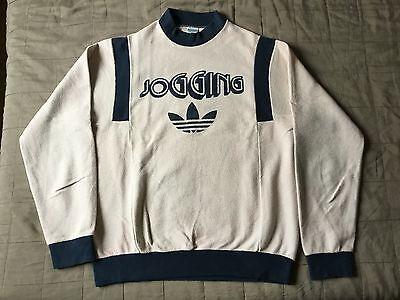 "Adidas ventex made in france sweatshirt ""jogging"" 80's vintage Gr. M/L"