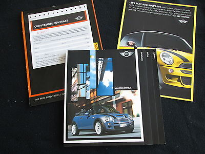 2004 MINI Cooper Conv't & Cooper S Convertible 80pg Brochure & Catalog Sheet set