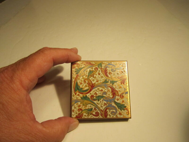 Vintage Volupte Co. Colorful Metal Decorated Ladies Compact