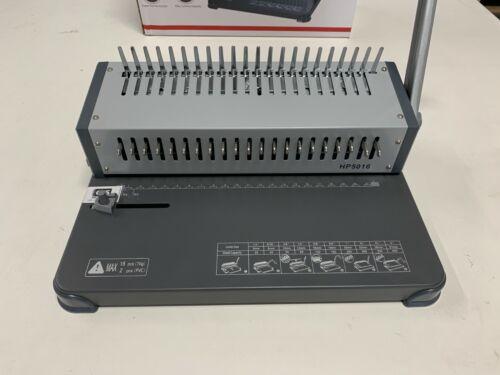 Metal Comb Binding Machine 21-Holes w/ Selectable Pins - NIB