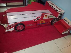 Racecar bed + bedside table Muswellbrook Muswellbrook Area Preview