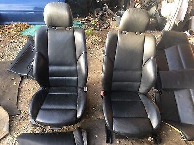 BMW E46 Coupe Msport Black Leather Interior Electric Heated Complete