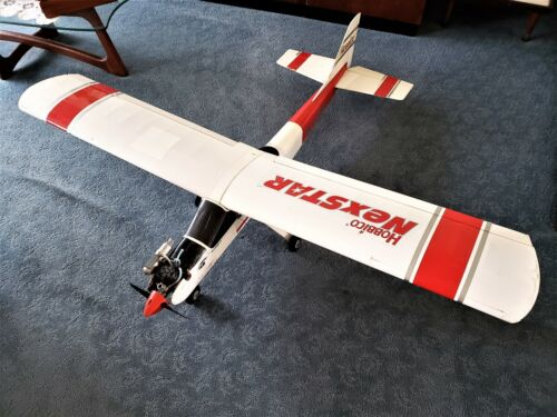 HOBBICO NEXSTAR R/C TRAINER PLANE WITH OS ENGINE READY TO FLY, FREE EXTRA WING