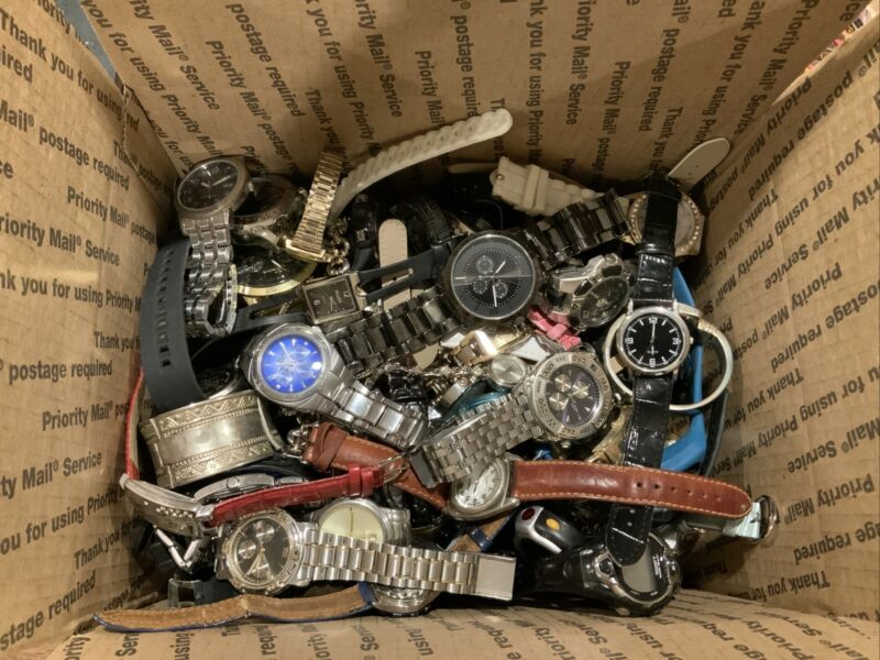 Large Watch Lot. 100+ watches. Untested. Lot #6