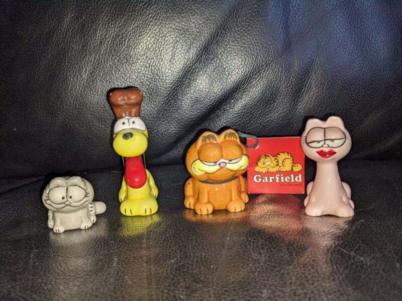 Vintage Enesco Garfield Ceramic Figurine Odie Nermal Arlene Very Rare HTF Set