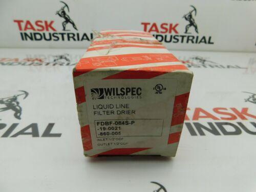 Wilspec Technologies FDBF-084S-P Liquid Line Filter Drier