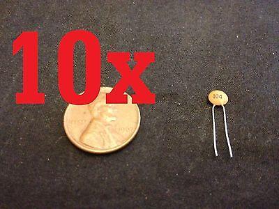 10x Ceramic Disc Capacitors 50v 100nf 0.1uf 104pf A4