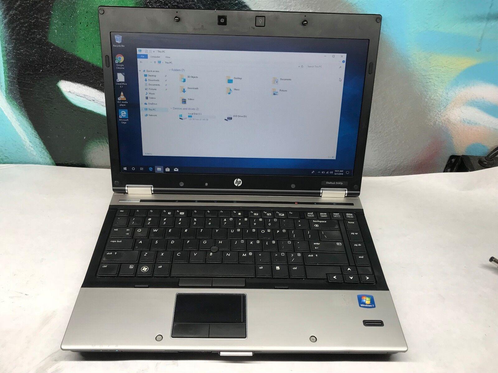 HP EliteBook 8440p Laptop / i5 2.4GHZ /  4GB DDR3 / 160GB Windows 10 COMPLETE