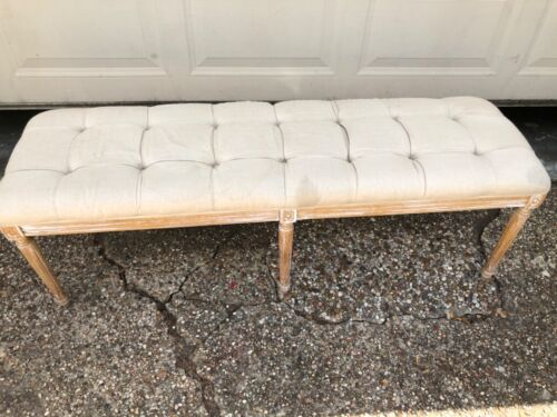 French Louis /Zentique Style Upholstered Bench