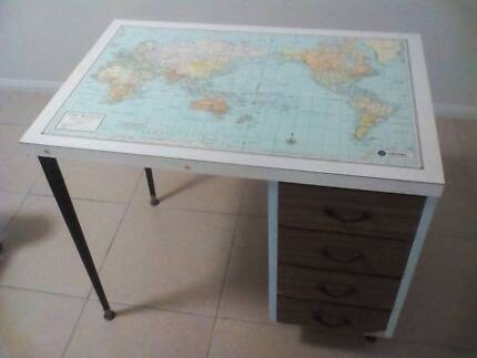 Student desk world map home garden gumtree australia free student desk gumiabroncs Gallery